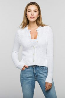 Cropped Crew Cardigan - Kinross Cashmere