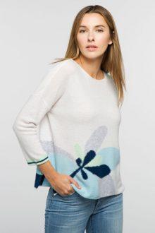 Floral Pullover - Kinross Cashmere