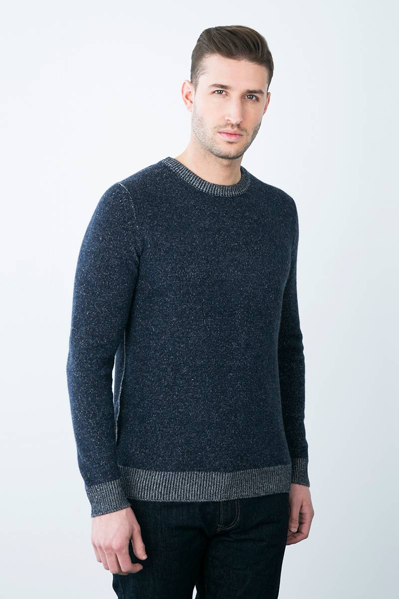 Kinross Cashmere | Plaited Exposed Seam Crewneck
