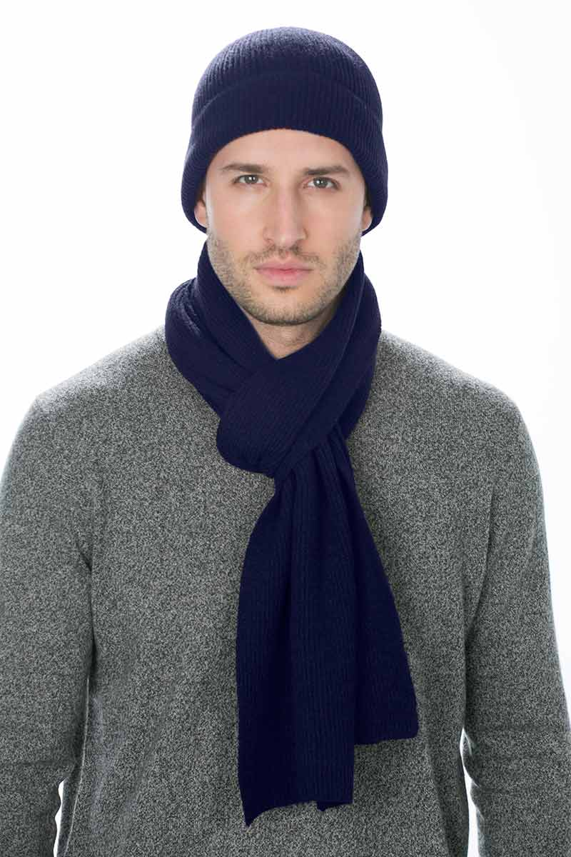 Kinross Cashmere | Ribbed Hat + Scarf