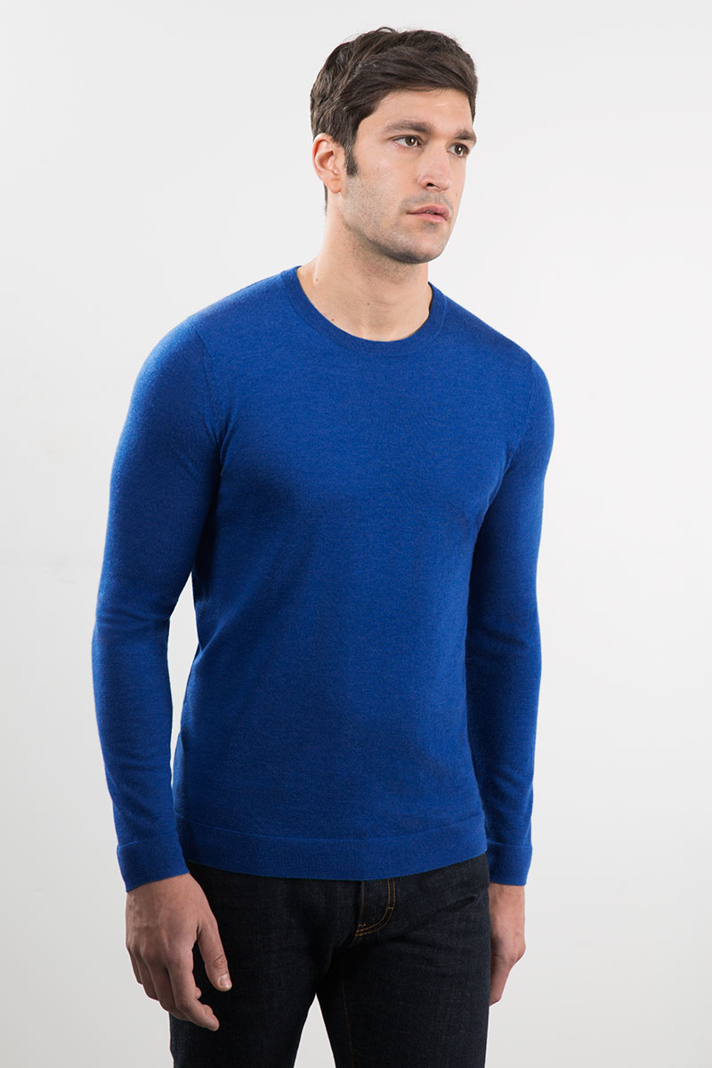 Crew w/ Contrast Tipping Kinross Cashmere